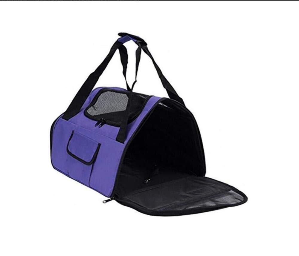 Pet Travel Carrier Pet Carrier Oxford Pet Bag,Outgoing Carrying Case Pet Bag Pet Supplies Dog Cage Purple Ourtdoor Pet Bag