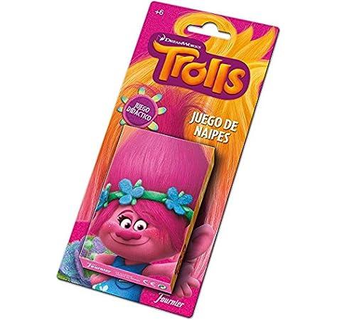 TROLLS Baraja De Cartas Infantil, Multicolor (Naipes Heraclio Fournier 1034791): Amazon.es: Juguetes y juegos