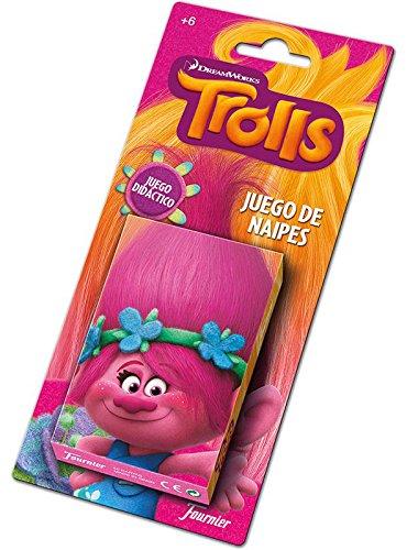 TROLLS- Baraja De Cartas Infantil, (Naipes Heraclio Fournier 1034791)