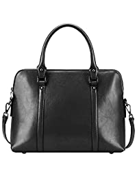 S-ZONE Women's Genuine Leather Handbags Briefcase Purse Shoulder Bags Tote Bags