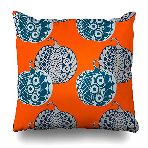 Decorativepillows Case Throw Pillows Covers for Couch/Bed 18 x 18 inch,Halloween Pumpkins Autumn Color Colorful Home Sofa Cushion Cover Pillowcase Gift Bed Car Living -