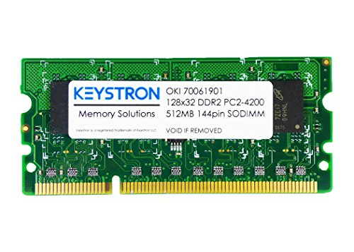 512MB DDR2 144Pin Memory RAM for OKI Color Printer C311, C311dn, C321, C321dn, C331, C331dn by Keystron