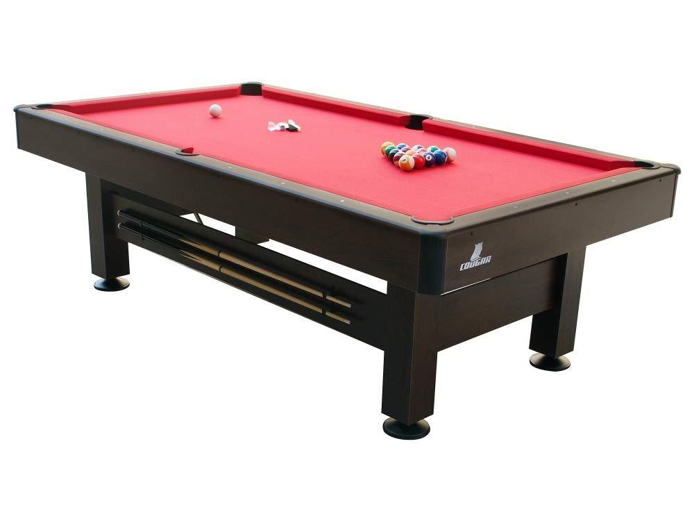 Beauty.Scouts Billardtisch Warren in braun aus Holz 245x135x79cm Pool-Table Billard Tisch Billard-Set Tischplatte Queues Kugeln