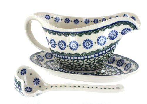 Polish Pottery Maia Gravy Boat & Ladle by Ceramika Artystyczna (Image #1)