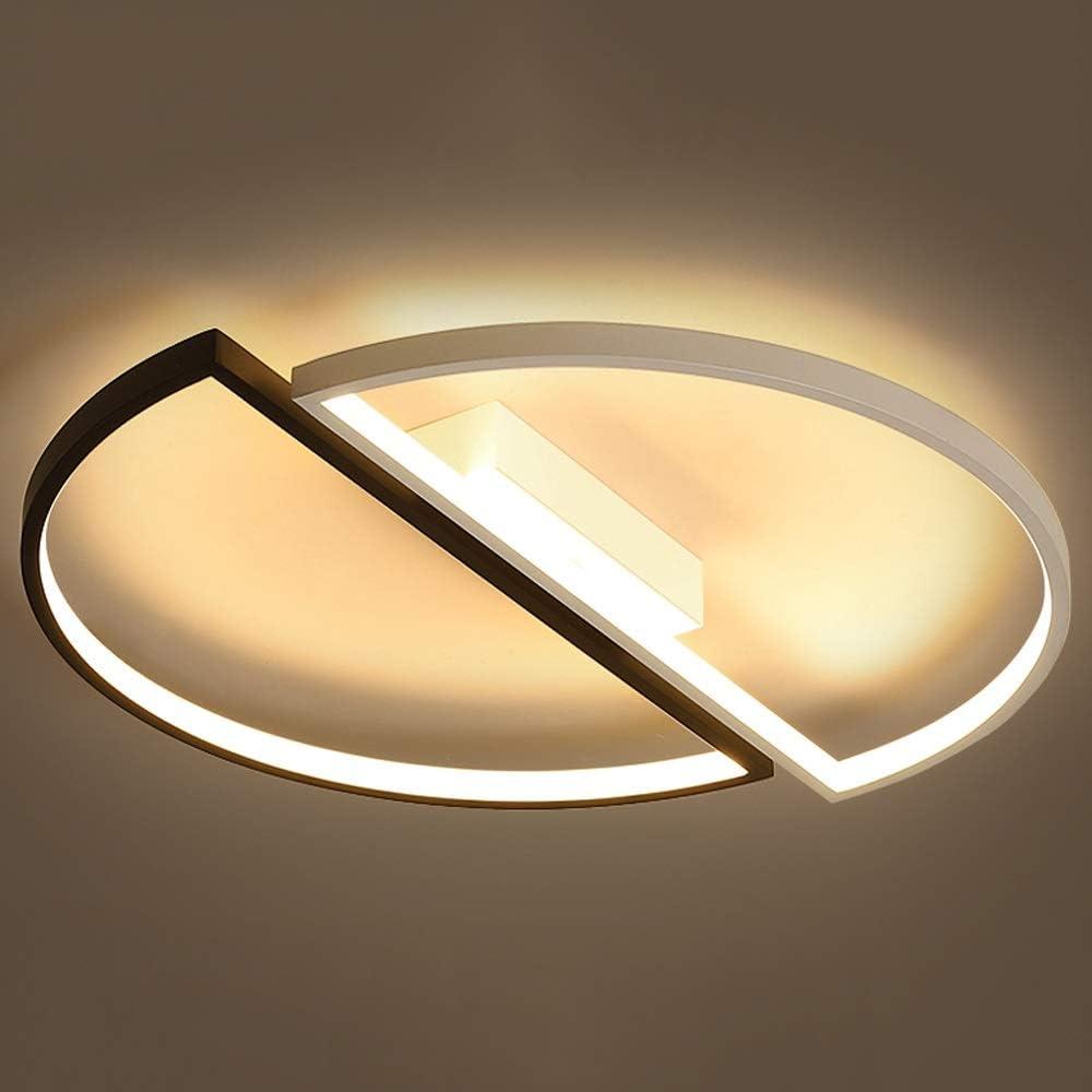 Aiqiyi LED Plafonnier Ménage Plafond Chaud Creative Lampe de Chambre Moderne Minimaliste Rond Plafond Lampe Atmosphère Personnalité Chambre Lampe Étude Lampe Neutre (Taille : 45×45×6cm)