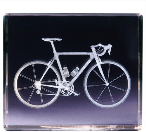 Classico 3D Cube Bicicleta, Vidrio, Transparente: Amazon.es: Hogar