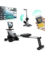 Bluefin Fitness BLADE Home Gym Foldable Rowing Machine | Magnetic Resistance Rower | Kinomap | Live Video Streaming | Video Coaching & Training | LCD Digital Fitness Console | Smartphone App