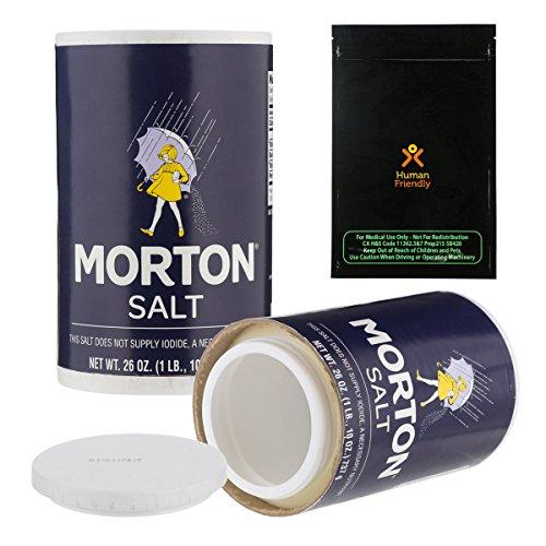 Morton Salt Diversion Safe Stash Can w HumanFriendly Smell-Proof Bag