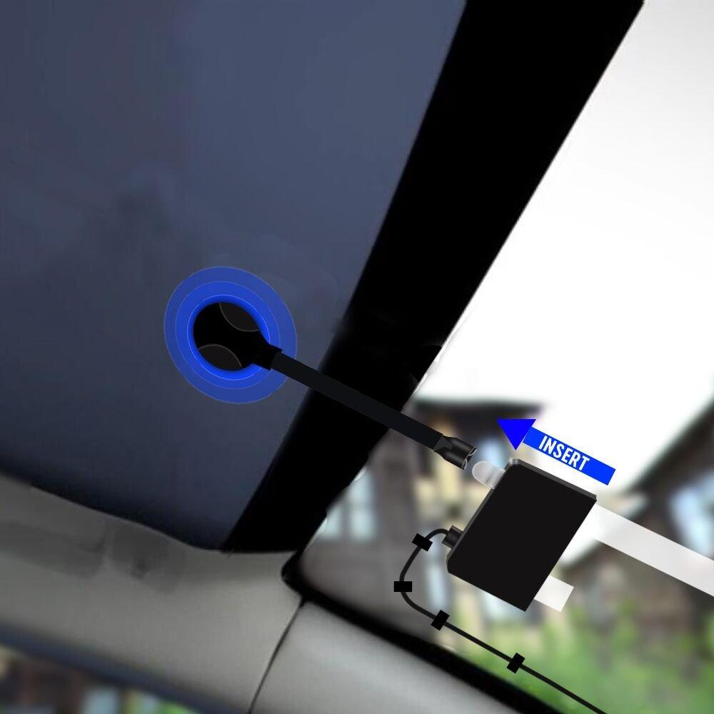 2,4 Farb Autoradio 60 Presets Stationen Tragbar Digital Radio DAB Transmitter Bluetooth Freisprechanruf FM Sender+Aux In//Out+64G TF Musik Play+Dual USB Ladeger/ät Autoradio Adapter FirstE DAB//DAB