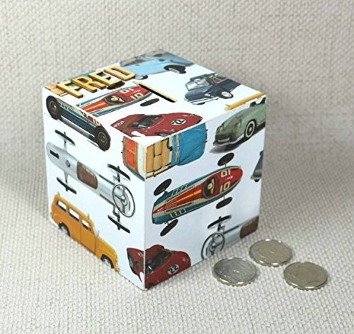 Personalised Classic Cars Money Box Birthday Gift For Car Lovers Young Old Free