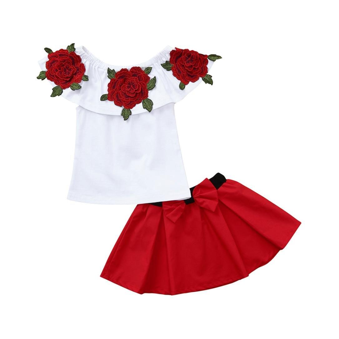ღ UOMOGO Royal Neonato Bambina Manica Lunghe Cappuccio Vestiti cappotto floreale Top Felpa /& Pantaloni Due Pezzi Suit 1-5 Anni 90-130 cm