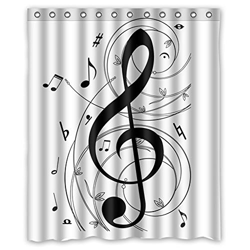 Music Fabric - Decration colletion Decor,Music Notes Waterproof Polyester Fabric
