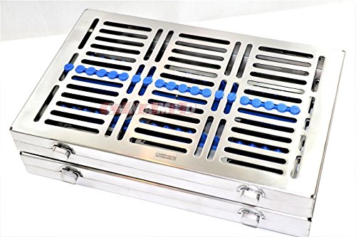 3 GERMAN DENTAL SURGICAL AUTOCLAVE STERILIZATION CASSETTES FOR 20 INSTRUMENTS BLUE ( CYNAMED ) by CYNAMED (Image #1)