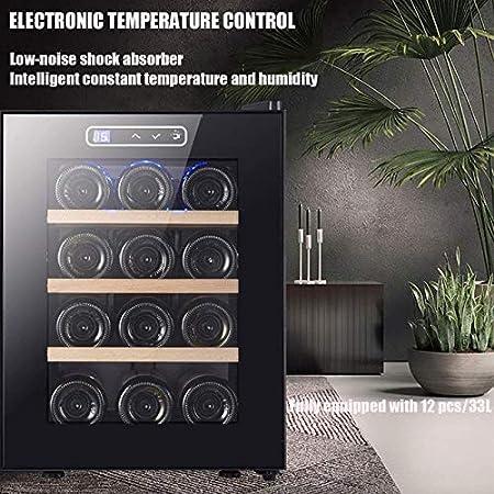 TYUIOYHZX Refrigerador del refrigerador del Vino, Botella de Vino refrigerador Incorporado o Independiente con Control de Temperatura Digital, Vidrio en Capas