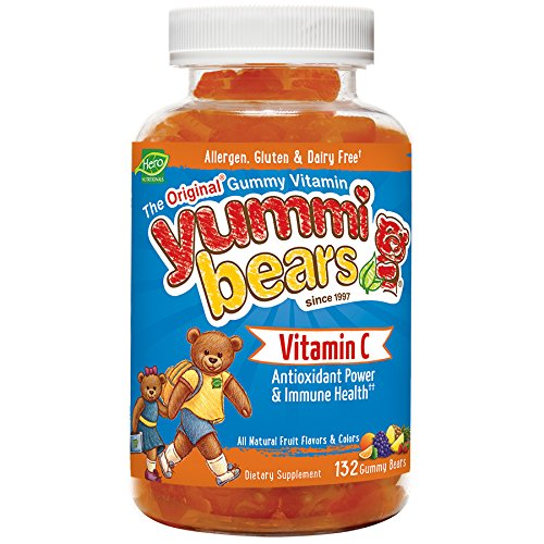 Yummi Bears Vitamin C Gummy Vitamin Supplement for Kids, 132 - Grape Kids Emergency