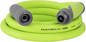 Flexzilla Garden Hose with SwivelGrip, 5/8 in. x 10 ft., Heavy Duty, Lightweight, Drinking Water Safe - HFZG510YWS