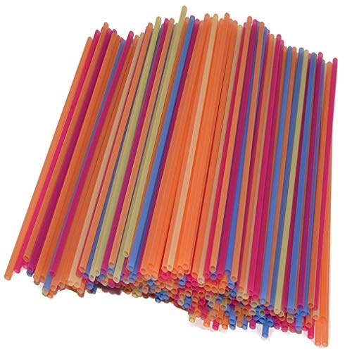 Cocktail and Coffee Straws Coffee and Drink Stirrers Plastic Drink Stirrers in Bright Colors Stirring and Sipping Straws, Cocktail Straws, Mini Straws 5 inch -