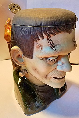 Budweiser Anheuser-Busch Frankenstein Universal Studios Lidded Stein with Pewter Lid