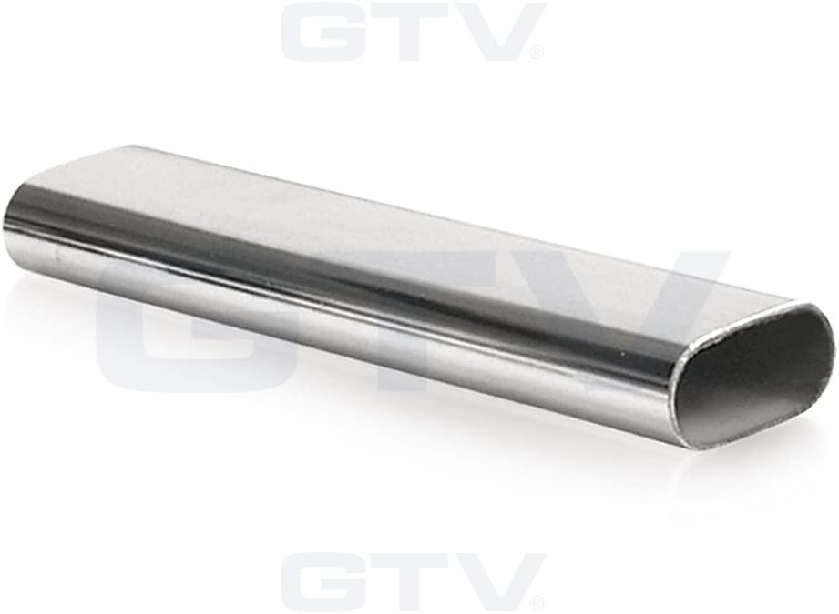 Length - 995mm End Supports Wardrobe Rail Oval Hanging Chrome Tube 30x15mm