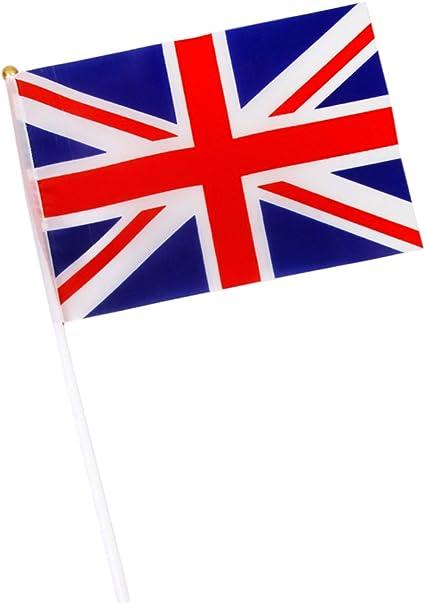 flagge mit union jack rot