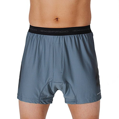 Exofficio Men's Give-N-Go Boxers, Charcoal, XLarge