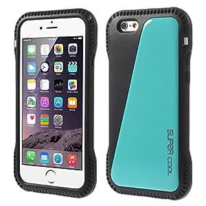 Boys'Swimming cintura MaryJane delgado de plástico duro y la carcasa del carcasa de TPU para el iPhone de Apple 6-Blue