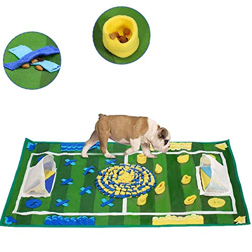 PETSUPPLY Pet Training Pad Non Slip,Dog Snuffle Mat, Feeding Nose Work Blanket Puppy Natural Foraging Skills Stress Release Soft Interactive Food Dispenser Toy