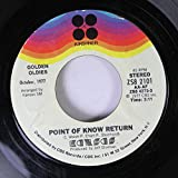 Kansas 45 RPM Point of Know Return / Dust in the Wind
