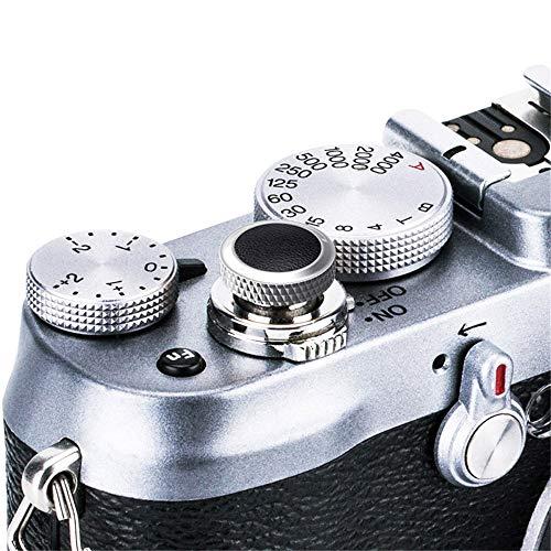 JJC Compatible Soft Shutter Release Button Cap for Fuji Fujifilm X-T3 XT3 X100F X-Pro2 X-Pro1 X-T2 X-E3 X-E2S X-T20 X-T10 X100T X100S X30 for Sony RX10 IV,RX10 III II,RX10,RX1R II,RX1 R,RX1 / GR Black