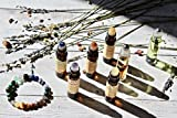 Seven Chakra Organic Essential Oil Crystal Gift Set, Gemstone Bracelet, Crystal Roller Ball, Gifts for Her, Gifts for Him