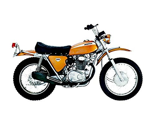 1970 Honda SL350 Motorcycle Automobile Photo Poster