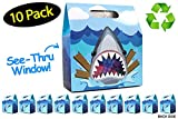 Shark Party Favor Bags 10 Pack Made From Recycled Paper // 10-Pack