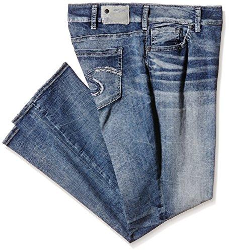 Silver Jeans Suki Mid Straight-Jeans Mujer Blau (Indigo SIB128)