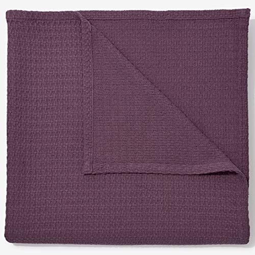 (BrylaneHome Bh Studio Primrose Cotton Blanket - Eggplant, Twin)