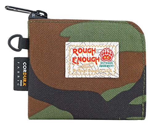 Rough Enough Small Coin Purse Case for Women Boys Men Girls Front Pocket Wallet Credit Card Holder Pouch Wallet Organizer with Coin Pocket Zipper Bag Compartment for Party Event Thanksgiving Gifts