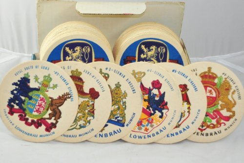 germany-beer-lowenbrau-collection-royal-coat-of-arms-set-of-30-6-designs-coasters-thick-mat