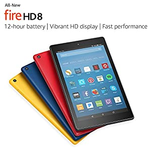 "All-New Fire HD 8 Tablet with Alexa, 8"" HD Display, 16 GB, Canary Yellow - with Special Offers"