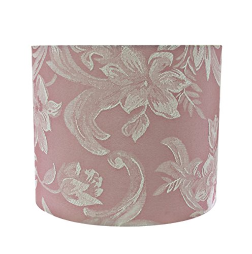 Aspen Creative 31023 Transitional Hardback Drum (Cylinder) Shape Spider Construction Lamp Shade in Pink, 12