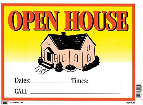Hillman 842120 Open House Sign With Date Time And Phone With