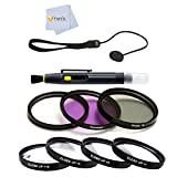7 Piece Filter Package for Panasonic Lumix DMC-FZ1000 4K, Point and Shoot Camera with Leica Lens 16X Zoom (Black)