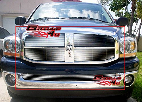 06-08 Dodge Ram Pickup Billet Grille Grill Combo insert # D67829A