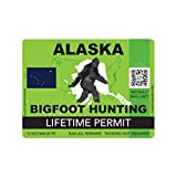fagraphix Alaska Bigfoot Hunting Permit Sticker Die Cut Decal Sasquatch Lifetime FA Vinyl - 4.00 Wide