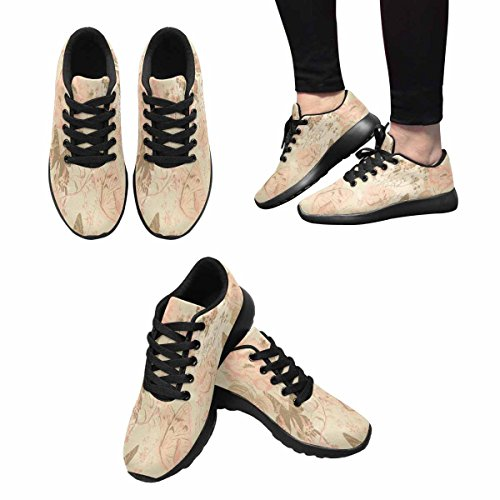 InterestPrint Womens Jogging Running Sneaker Lightweight Go Easy Walking Comfort Sports Running Shoes Butterflies and Roses Multi 1 ANbPB