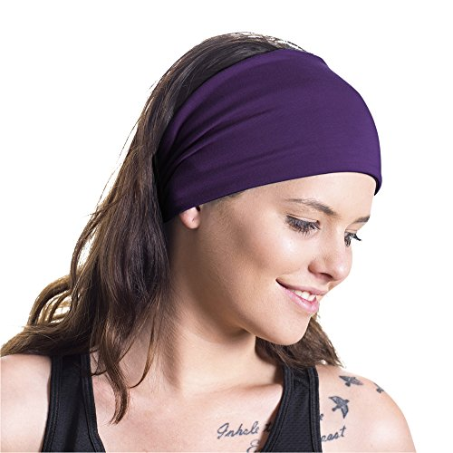 Red Dust Active Yoga Headband - Ideal Sports, Pilates, Light Workouts, Exercising Travel - Made from Lightweight Bamboo Jersey - Stretchy & Stylish