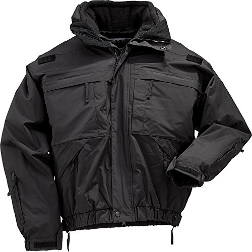 5.11 Tactical #48017 5-in-1 Jacket (Black, (5.11 Nylon Band)