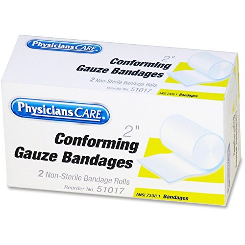 - First Aid Conforming Gauze Bandage, 2'' wide, 2 Rolls/Box, Sold as 1 Box