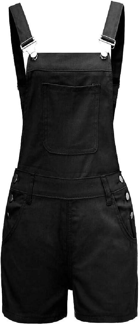 Qiangjinjiu Women Fashion Jumpsuits Casual Denim Rompers Sleeveless Overall Playsuits