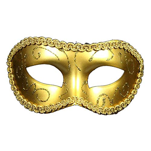 Mardi Gras Party - Sexy Men Women Costume Prom Mask Venetian Mardi Gras Party Dance Masquerade Ball Halloween Fancy - Costume Favors Party Name Headband Ballons Feather Glasses Photo Lids ()
