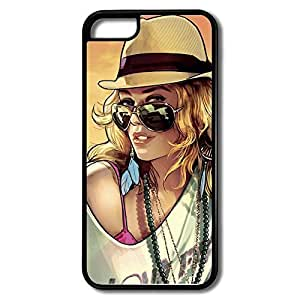 MMZ DIY PHONE CASEipod touch 5 Cases Beauty Woman Design Hard Back Cover Cases Desgined By RRG2G