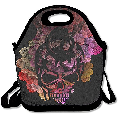 Price comparison product image Starophi A Skull With A 50s Haircut Lunch Bag Tote Handbag Lunchbox Food Container Tote Cooler Warm Pouch For School Work Office